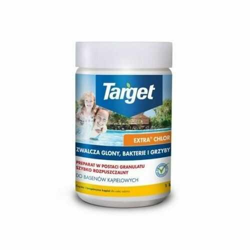 Extra chlor  zwalcza glony, bakterie i grzyby  1 kg target granulat