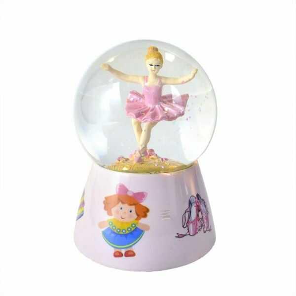 Kula wodna z różową baletnicą