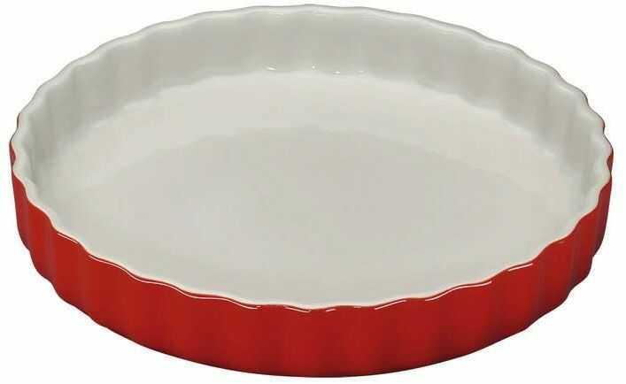 Kuchenprofi - provence - ceramiczna forma na tartę  28 cm - czerwona