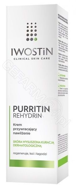 Iwostin purritin rehydrin krem przywracający nawilżenie 40 ml