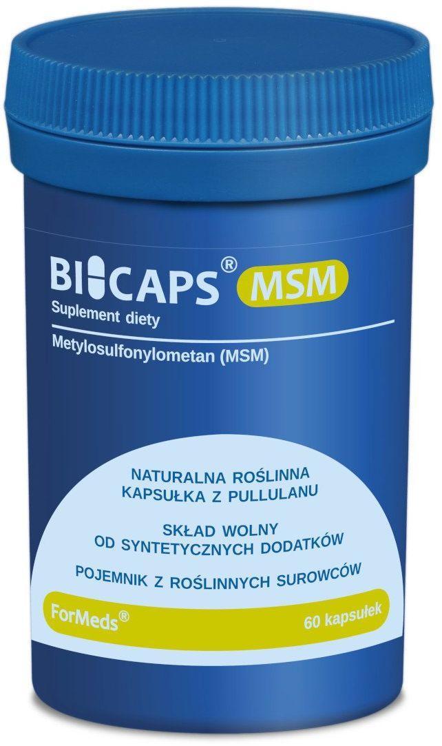 BICAPS MSM Siarka Organiczna Metylosulfonylometan 700 mg (60 kaps) ForMeds
