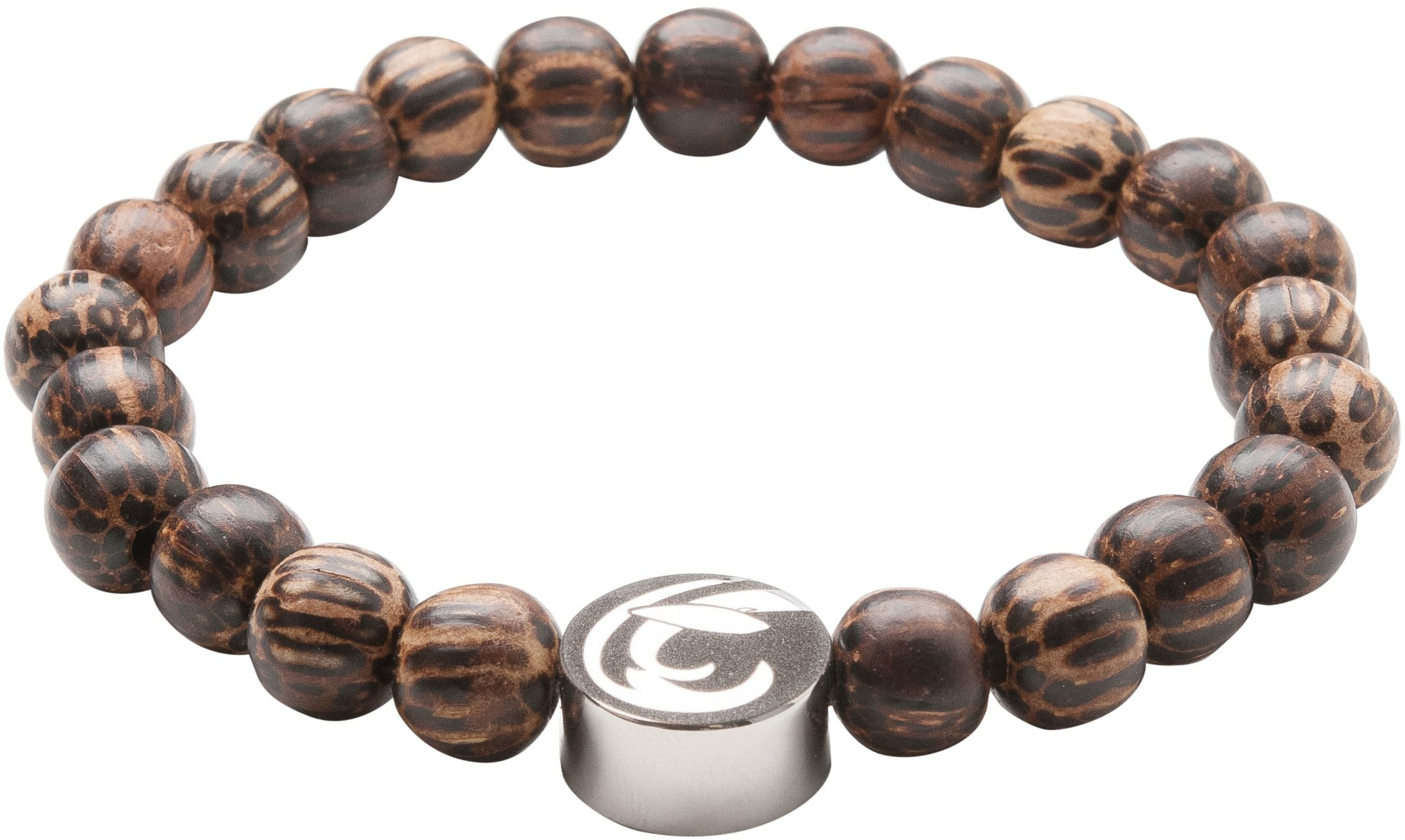 bransoletka magnetyczna 2163-1 z drewnianych kulek