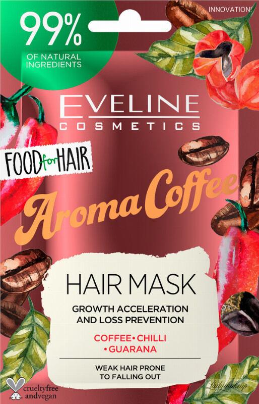 Eveline Cosmetics - Food for Hair - Growth Acceleration and Loss Prevention Hair Mask - Regenerująca maska do włosów słabych i wypadających - Aroma Coffee - 20 ml