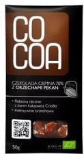 Czekolada gorzka 70% z orzechami pekan BIO 50g Cocoa