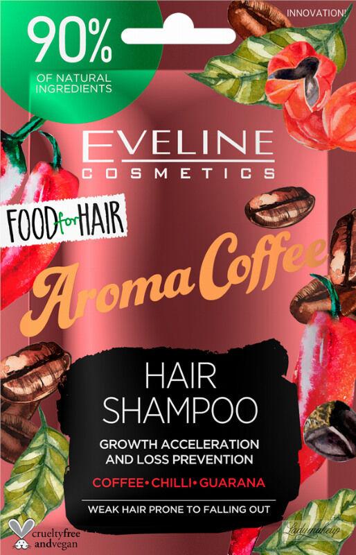 Eveline Cosmetics - Food for Hair - Growth Acceleration and Loss Prevention Hair Shampoo - Regenerujący szampon do włosów słabych i z tendencją do wypadania - Aroma Coffee - 20 ml