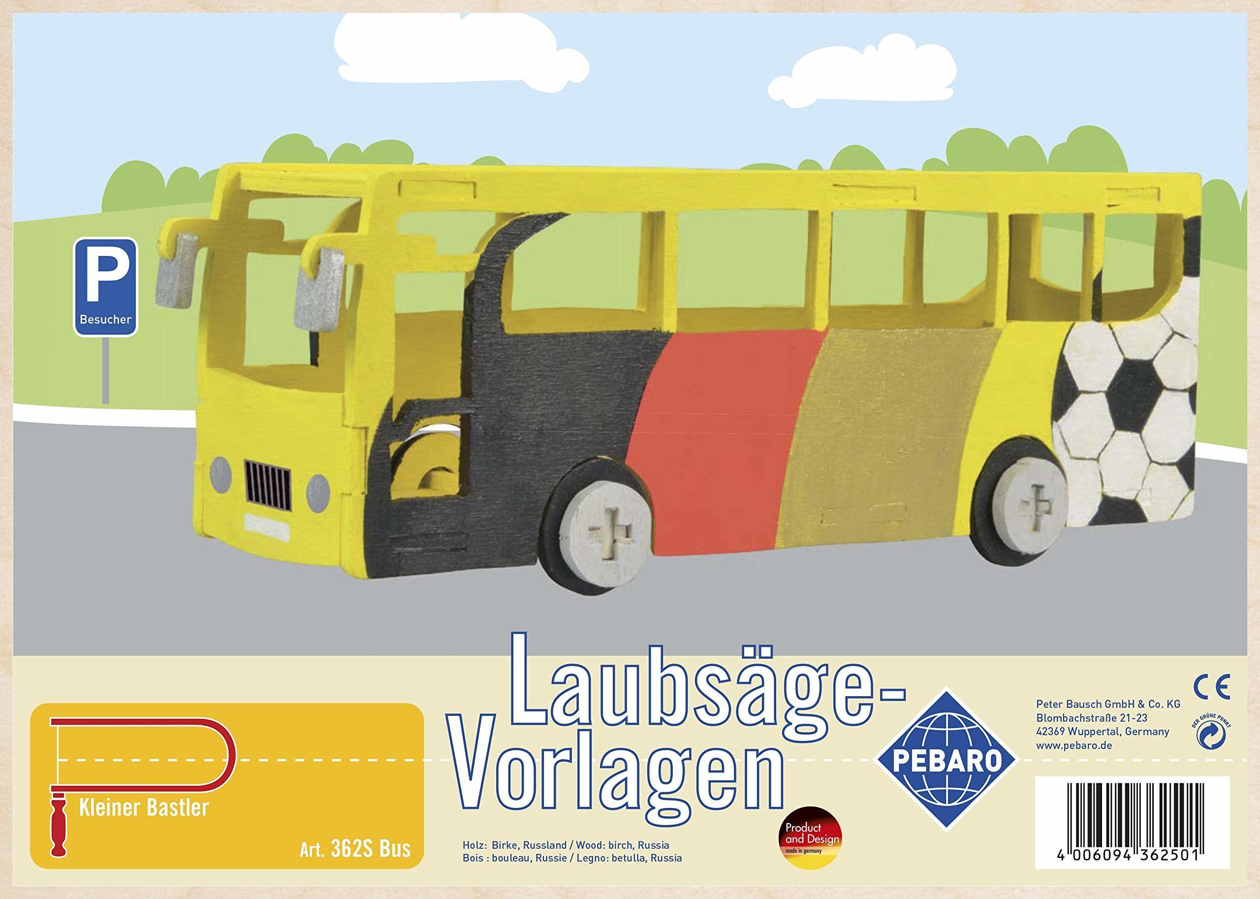 Pebaro 362S szablon do wyrzynarki ze sklejki motyw autobusa