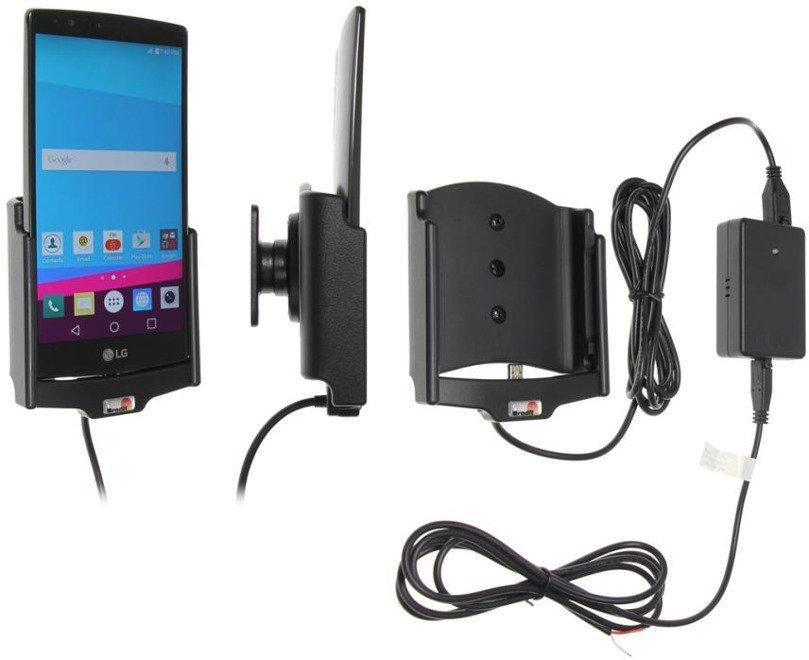Uchwyt do LG G4 z wbudowaną ładowarką samochodową do instalacji na stałe