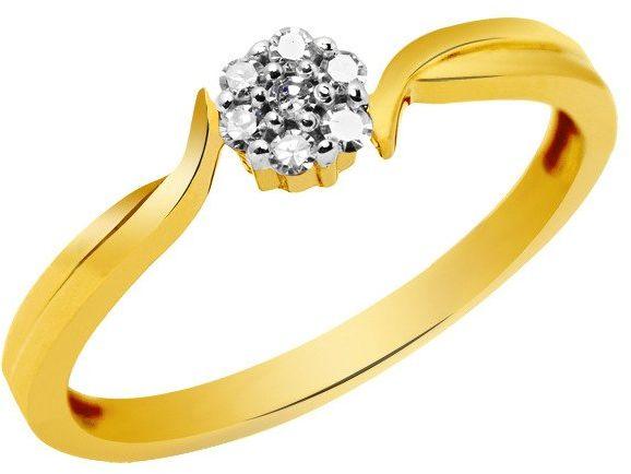 Złoty Pierścionek z Diamentami Brylantami