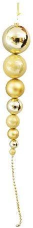 Viscio Trading 173011 łańcuszek na szyję z 8 kulkami, tworzywo sztuczne, złoty, 12 x 12 x 100 cm