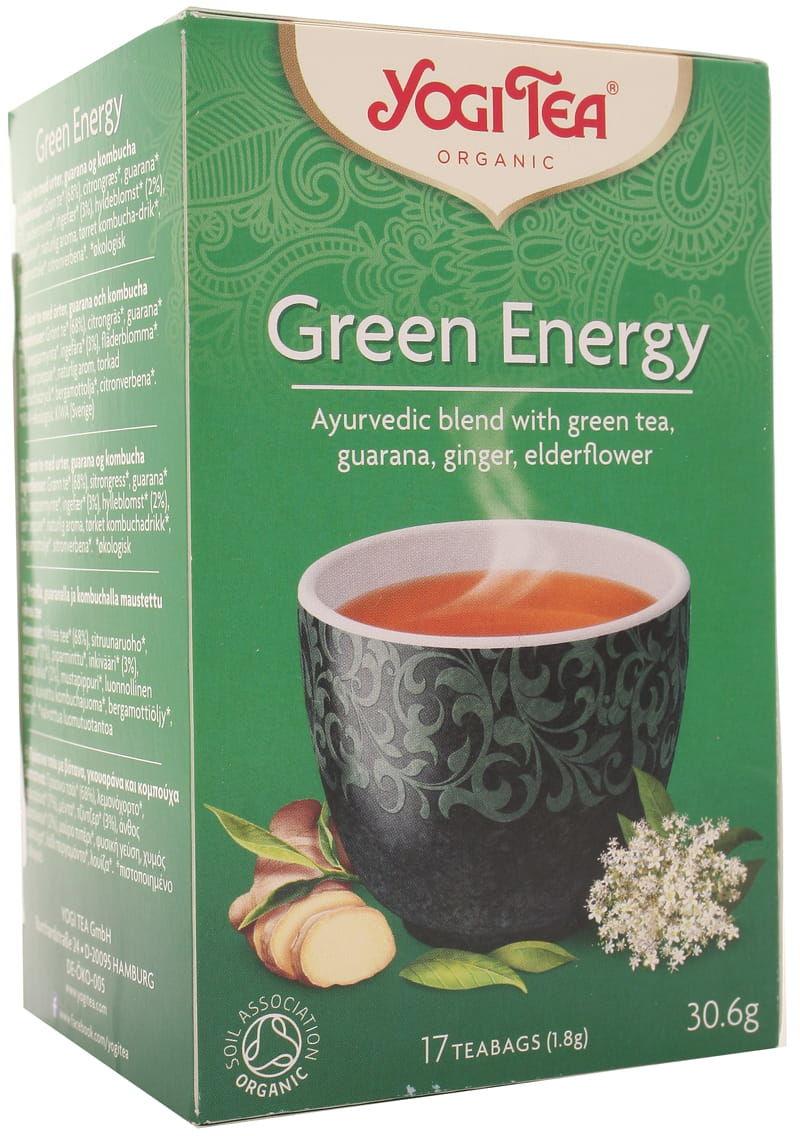 Herbatka zielona energia BIO - Yogi Tea - 17 torebek