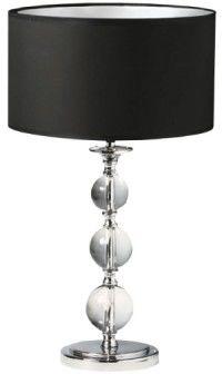ŻARÓWKA LED GRATIS! Lampa stołowa Rea RLT93163-1B Zuma Line kryształowa lampa z czarnym abażurem