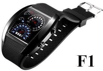 Zegarek Męski Binarny Formuła F1 LED.