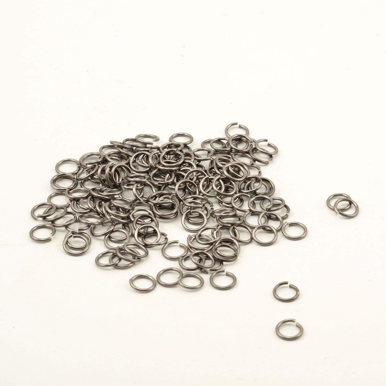 Vaessen Creative Alu Deco zginane pierścienie 7,25 mm szare 150 sztuk, aluminium, antracyt, 0, 72 x 0,2 cm, 150 sztuk