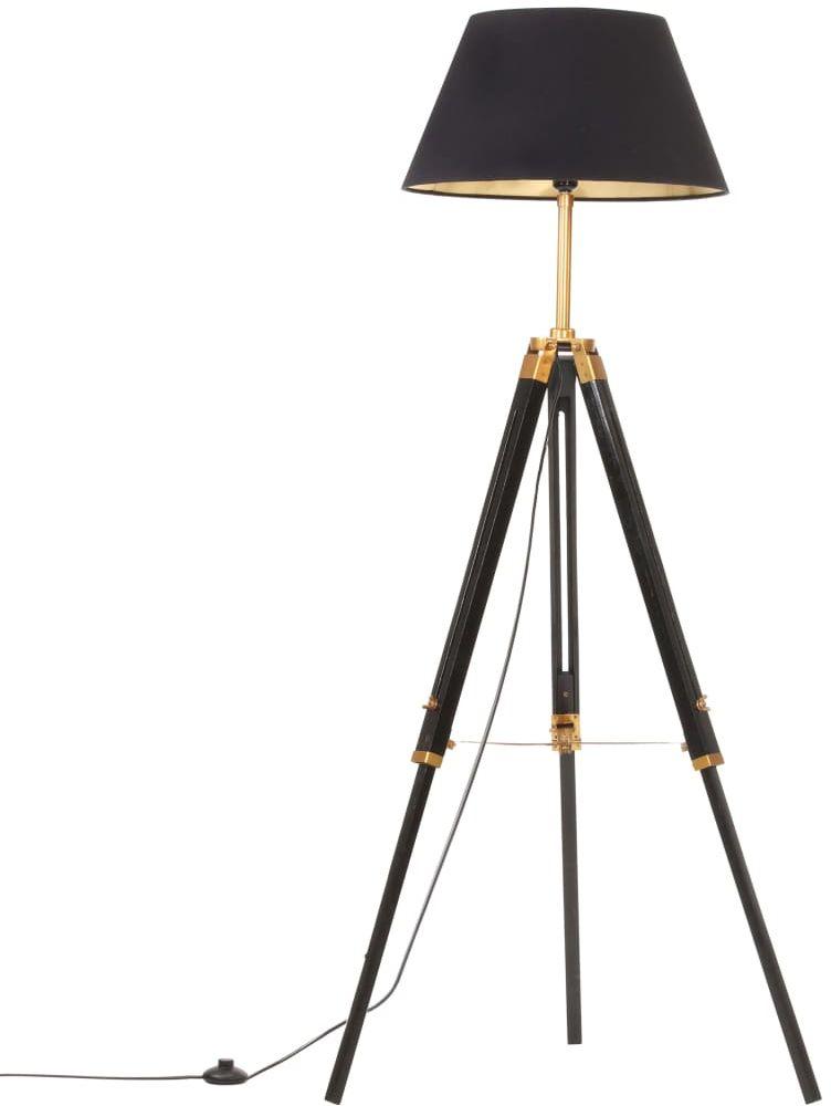 Czarno-złota drewniana lampa podłogowa trójnóg - EX199-Nostra