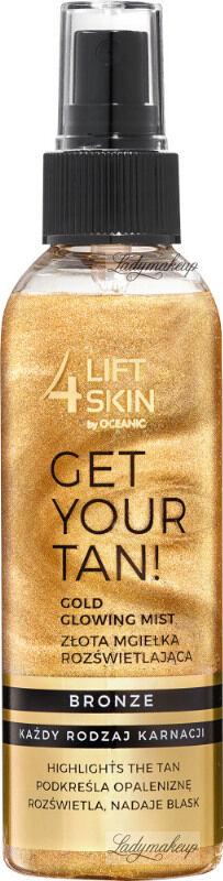 Lift4Skin - GET YOUR TAN! Gold Glowing Mist - Złota mgiełka rozświetlająca do ciała - Bronze - 150 ml