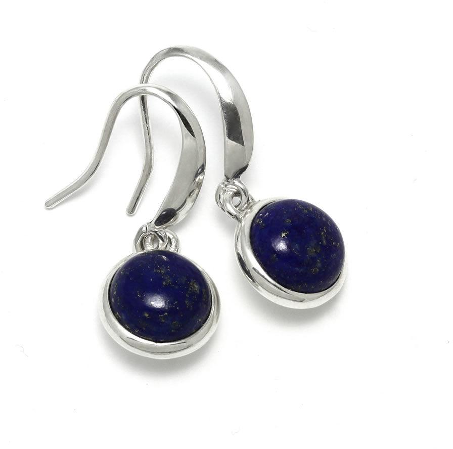 Kuźnia Srebra - Kolczyki srebrne, 30mm, Lapis Lazuli, 5g, model