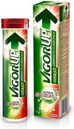 Vigor Up! Fast Tabletki musujące o smaku pomarańczowym 20 tabl.