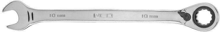 Klucz płasko-oczkowy z grzechotką i przełącznikiem 10mm 09-322