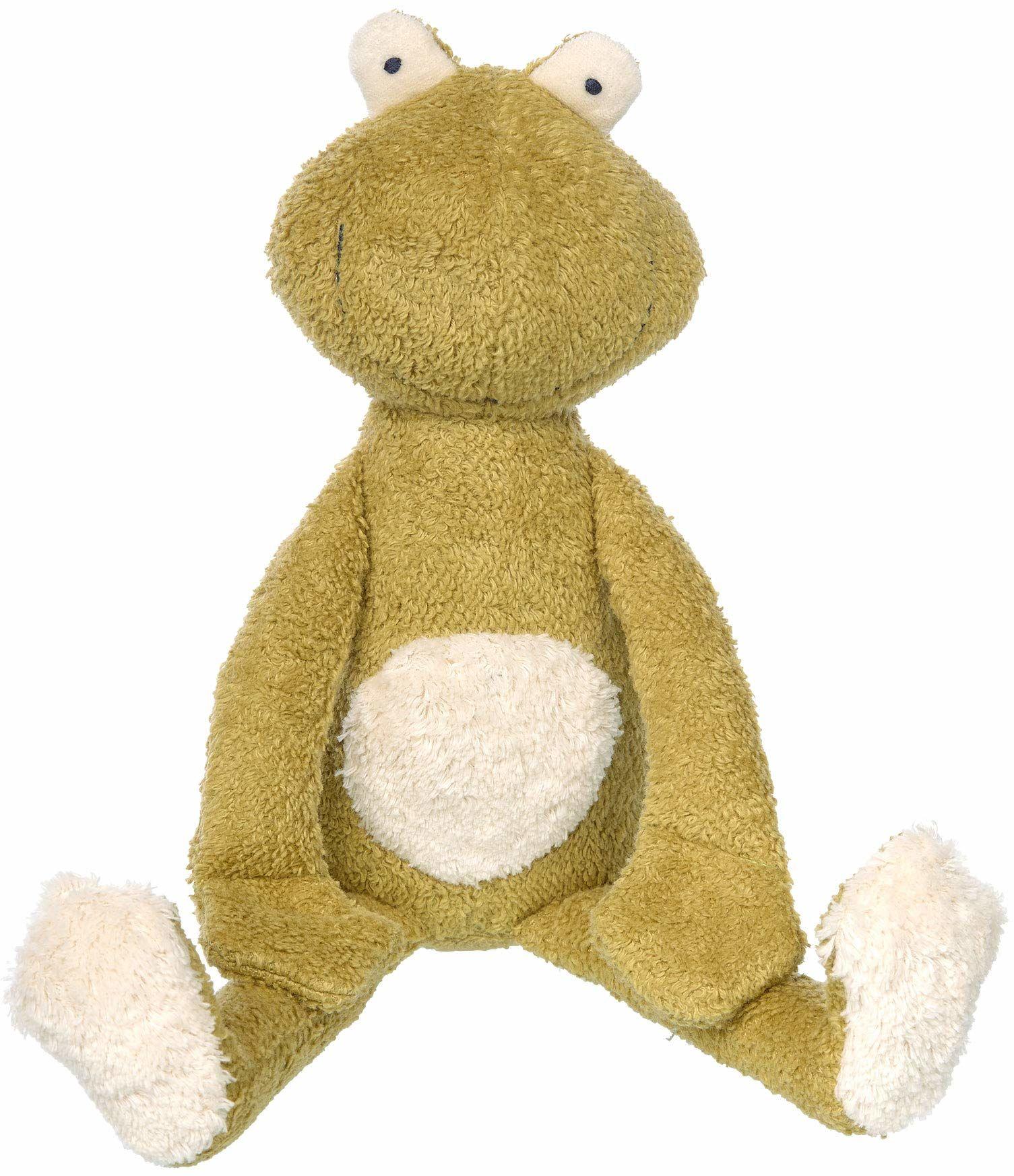 SIGIKID 39335 przytulanka żaba Green dziewczynki i chłopcy zabawka dla niemowląt zalecana od urodzenia zielona/biała