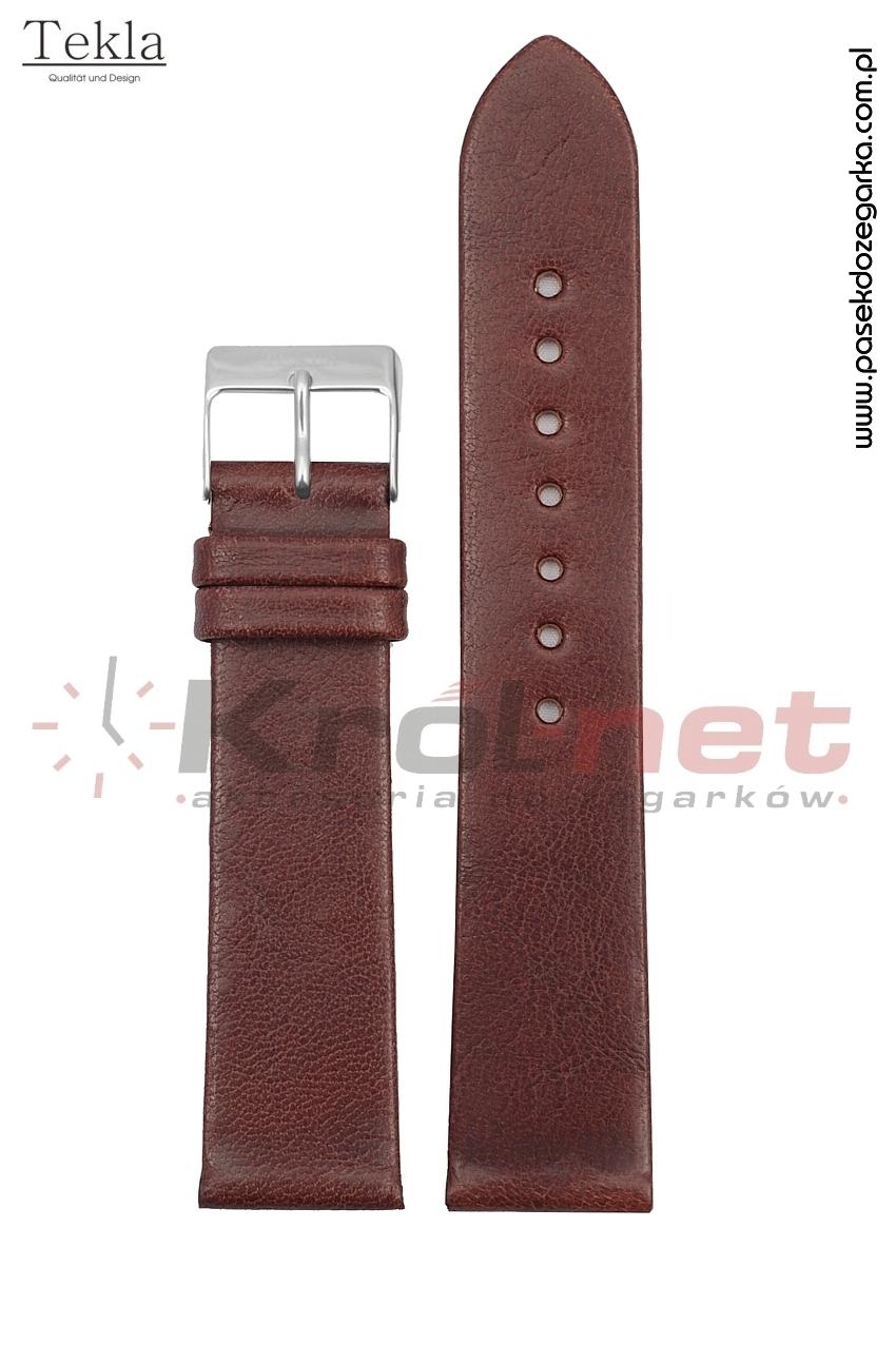 Pasek TK118BR/24 - brązowy, gładki