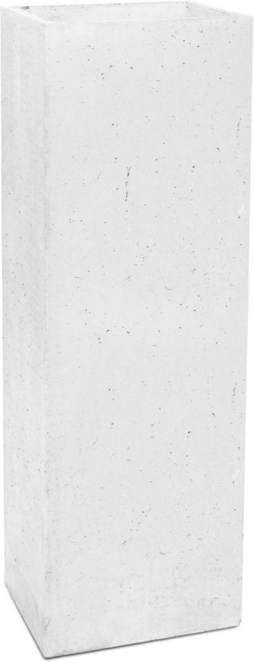 Donica betonowa TOWER L 31x25x93 biały