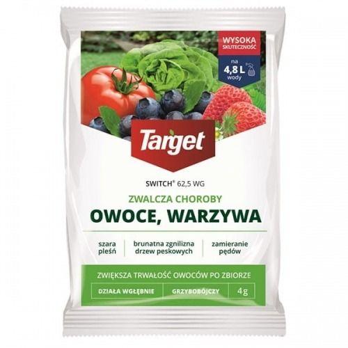 Switch 62,5 wg  zwalcza szarą pleśń i inne choroby warzyw i owoców  4 g target