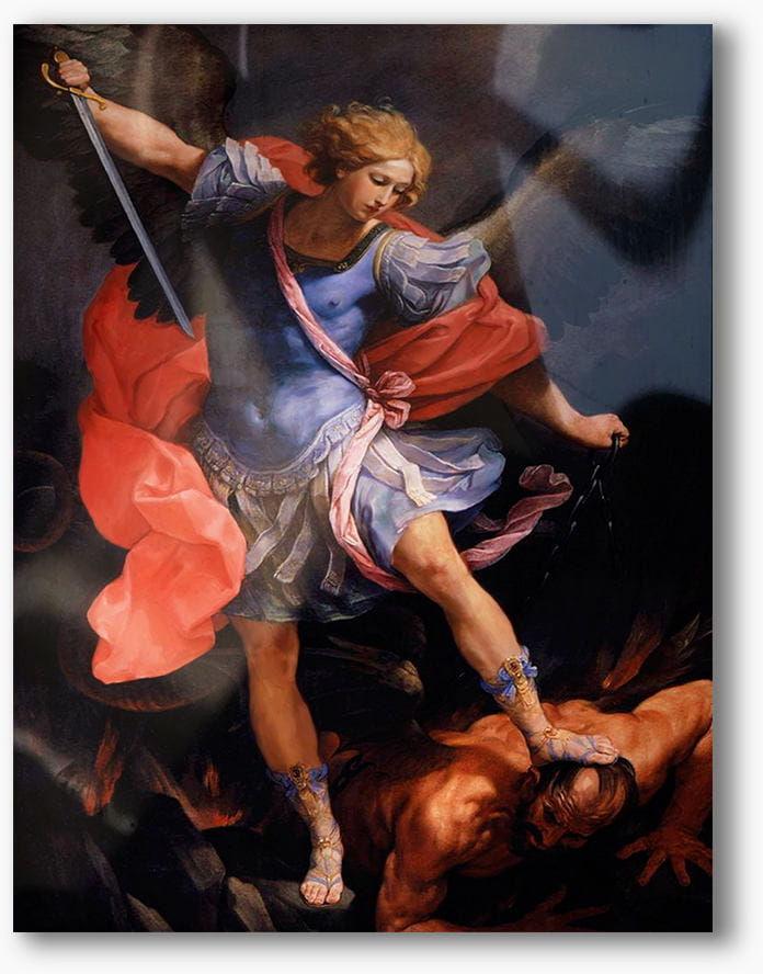 Archanioł Michał, nowoczesny obraz religijny plexi