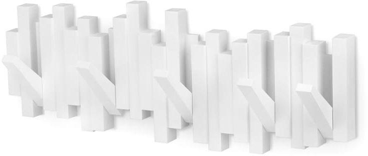 Wieszak na ubrania Sticks biały