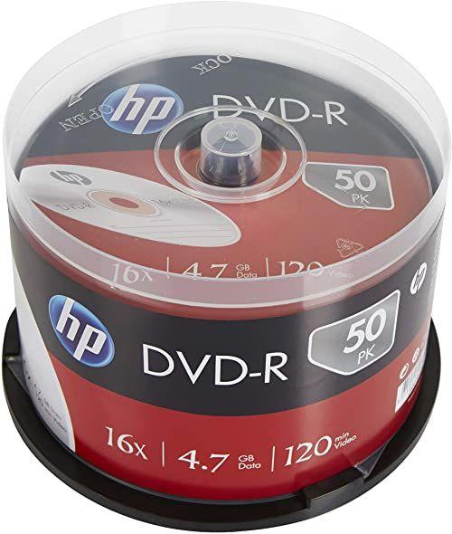 HP DVD-R 16X 50PK pudełko na ciasto HP 4,7 GB