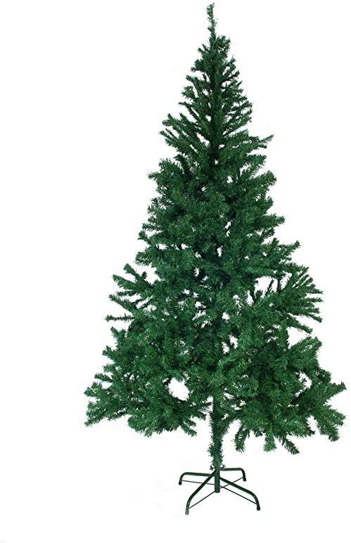 EUROPALMS Choinka, wysokość 180 cm klasyczna i bardzo gęsta choinka sztuczne drzewko hamujące płomień w zestawie nóżka/stojak
