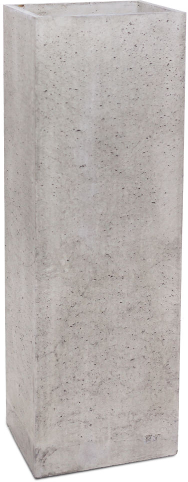 Donica betonowa TOWER L 31x25x93 szary naturalny