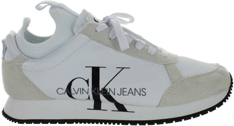 Buty sportowe męskie Calvin Klein Jeans Jemmy czarneB4S0136 WHITE
