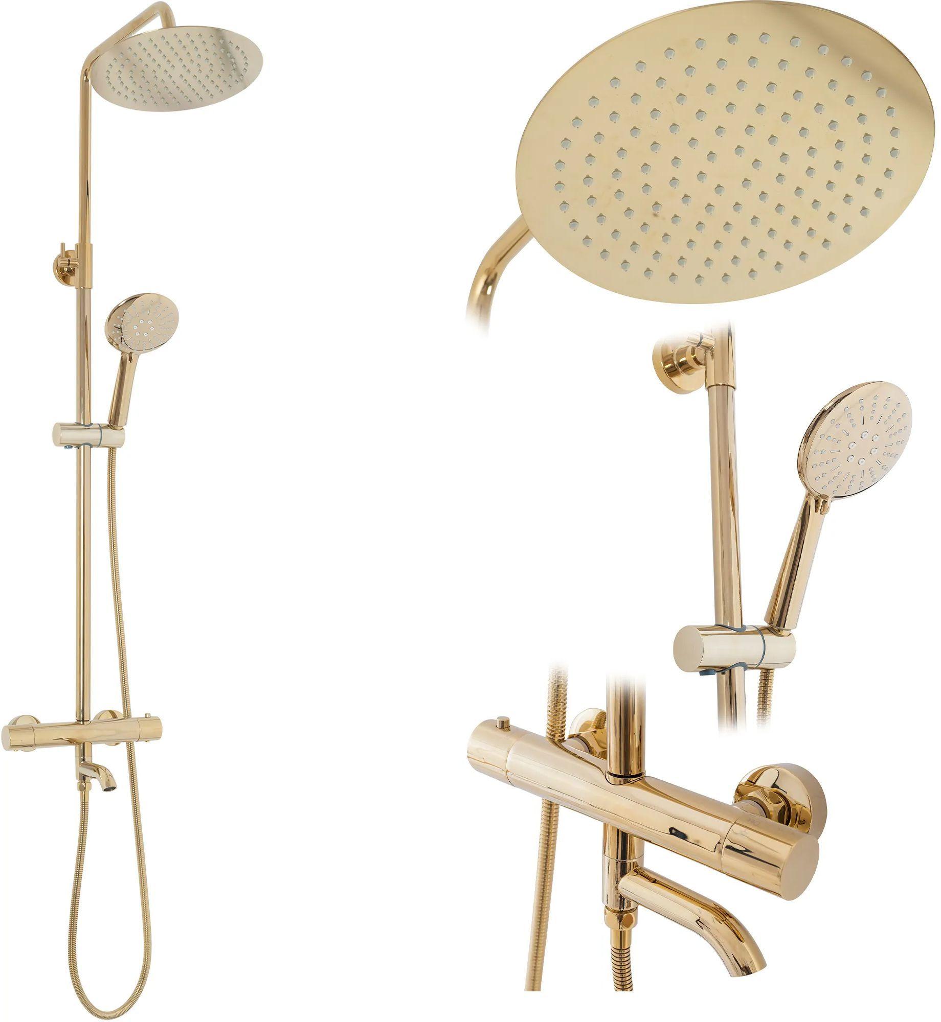 Rea Zestaw REA Lungo Gold Prysznicowy Natryskowy Z Termostatem