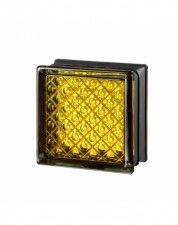 Luksfer Mini Daredevil Yellow pustak szklany 14,7x14,7x8 cm