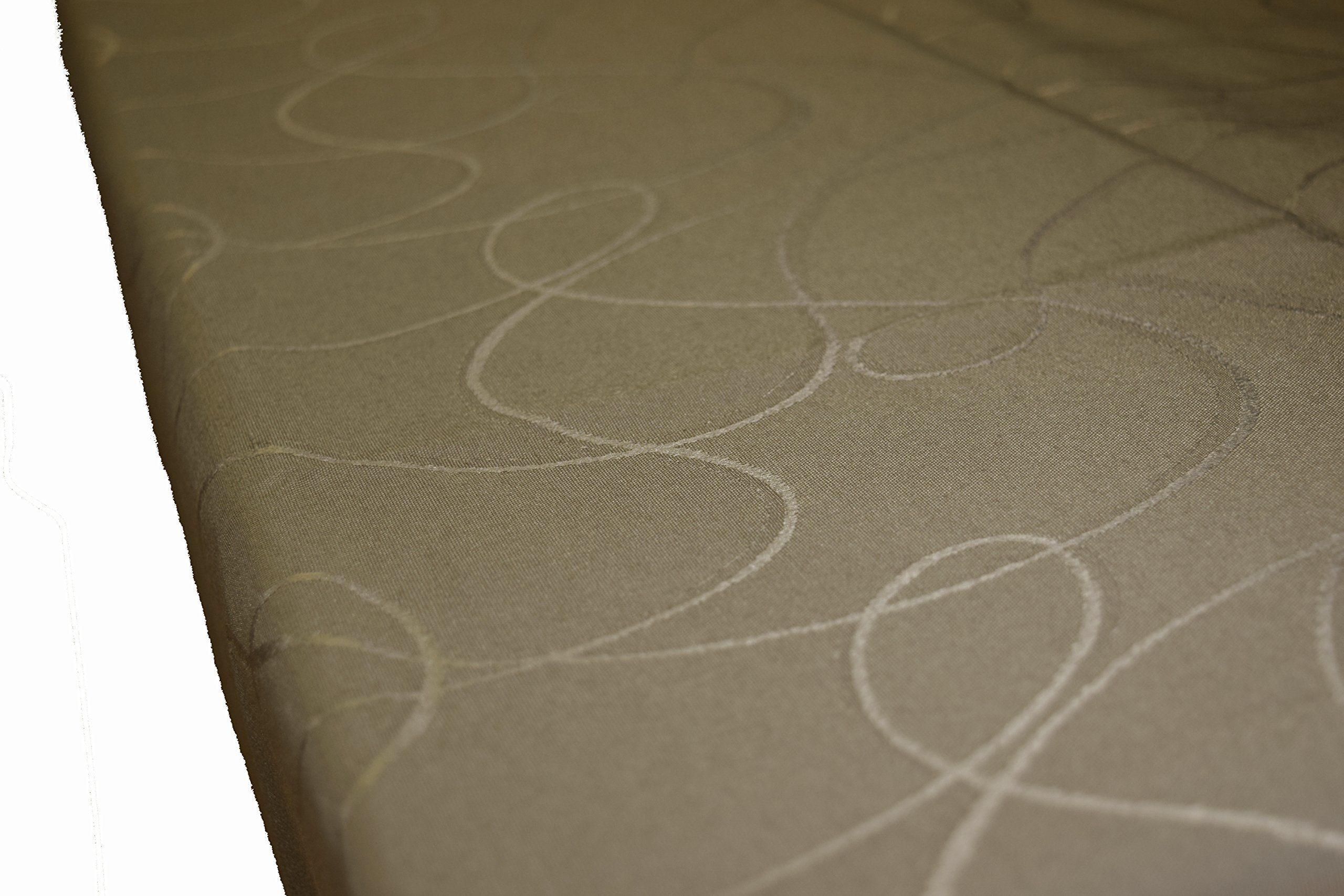 Comptoir du Linge csi06005 obrus prostokątny tkanina/poliester/bawełna/teflonowa 300 x 150 x 0,5 cm, kolor szarobrązowy, 300 x 150 x 0,5 cm