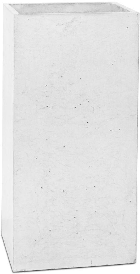 Donica betonowa TOWER M 31x25x63 biały