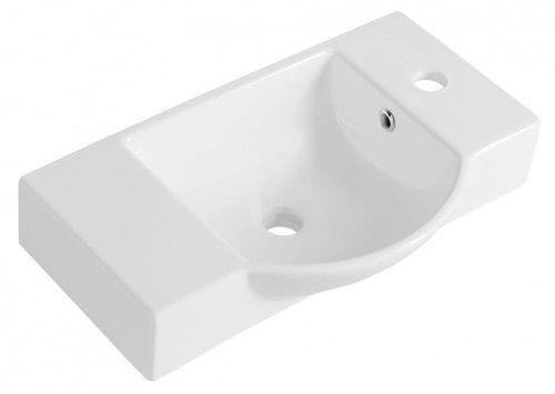 Umywalka ceramiczna 55x32 cm podwieszana biała LITOS