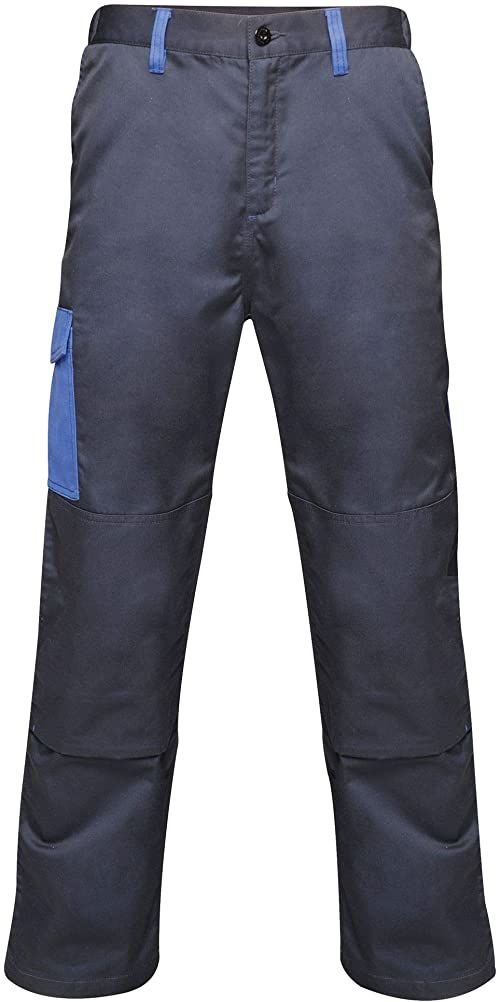 """Regatta męskie profesjonalne kontrastowe wytrzymałe spodnie cargo potrójnie szyte wodoodporne spodnie Navy/New Royal Size: 42"""""""