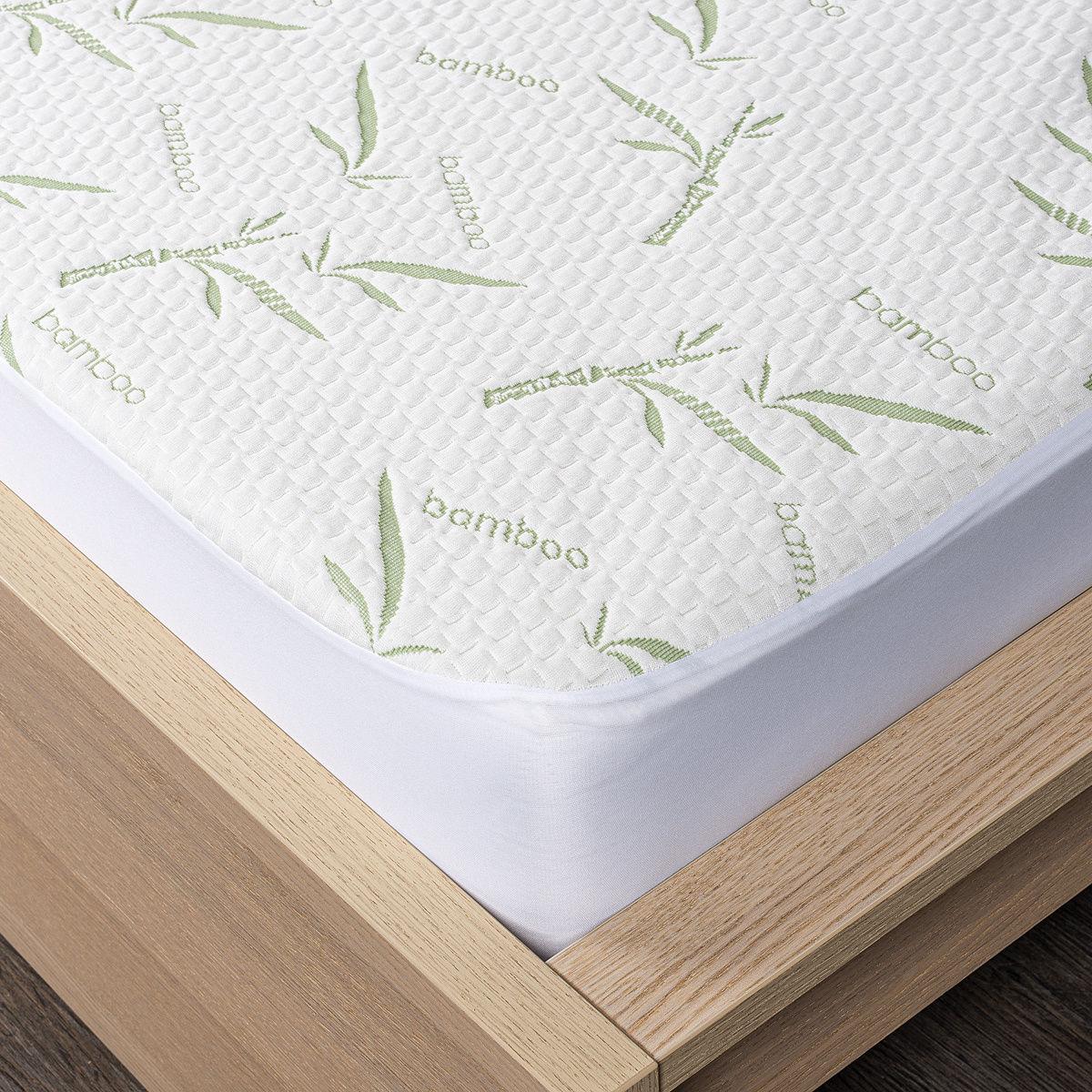4Home Bamboo Ochraniacz na materac z lamówką, 200 x 200 cm + 30 cm, 200 x 200 cm