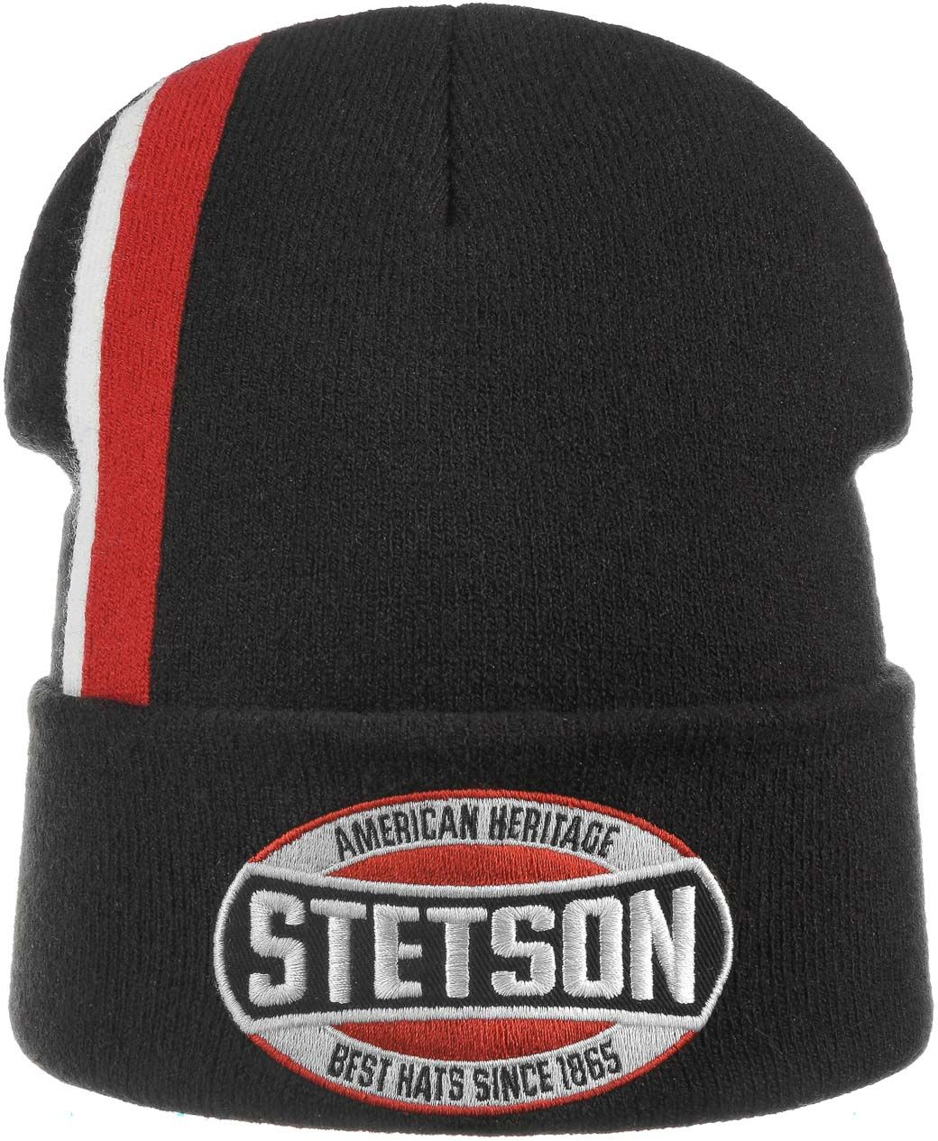 American Heritage Beanie Hat by Stetson, czarny, One Size