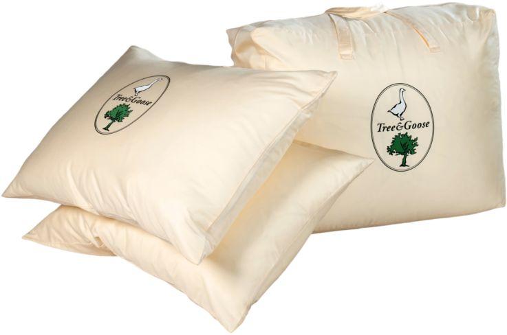 Poduszka trzykomorowa TREE&GOOSE ANIMEX puchowa, Rozmiar: 40x40 Darmowa dostawa, Wiele produktów dostępnych od ręki!