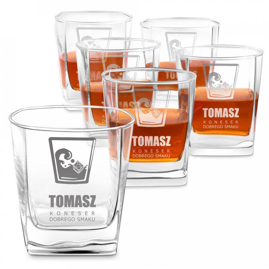 Szklanki grawerowane do whisky x6 komplet dedykacja dla konesera