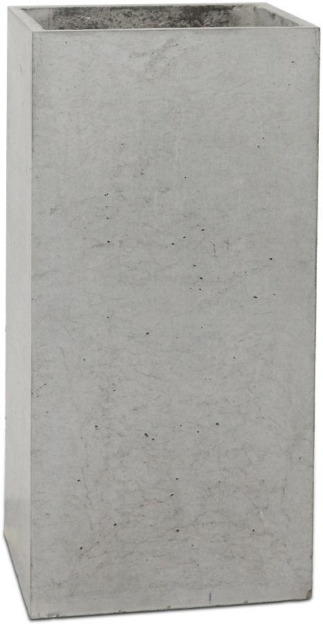 Donica betonowa TOWER M 31x25x63 szary naturalny