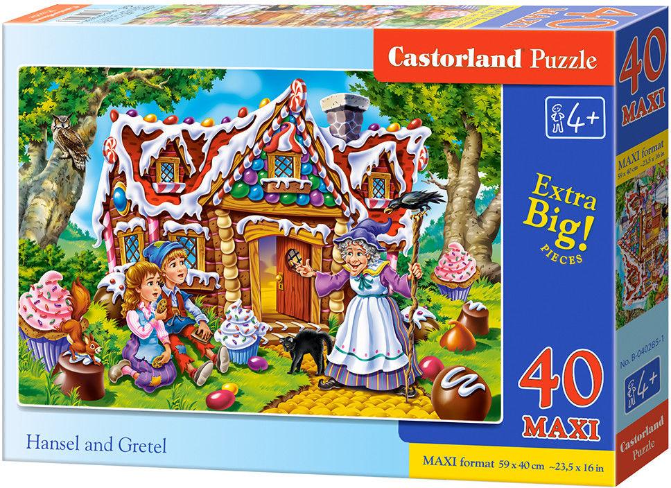 Puzzle Castor 40 MAX - Jaś i Małgosia, Hansel and Gretel