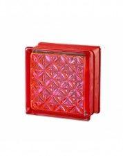 Luksfer Mini Romantic Ruby pustak szklany 14,7x14,7x8 cm