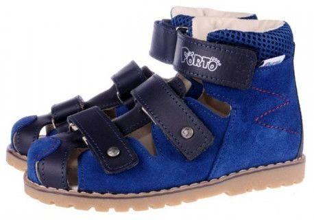 Mrugała Porto sandały profilaktyczne z zakrytym palcem 1188/1288/1388 jeans granat 67