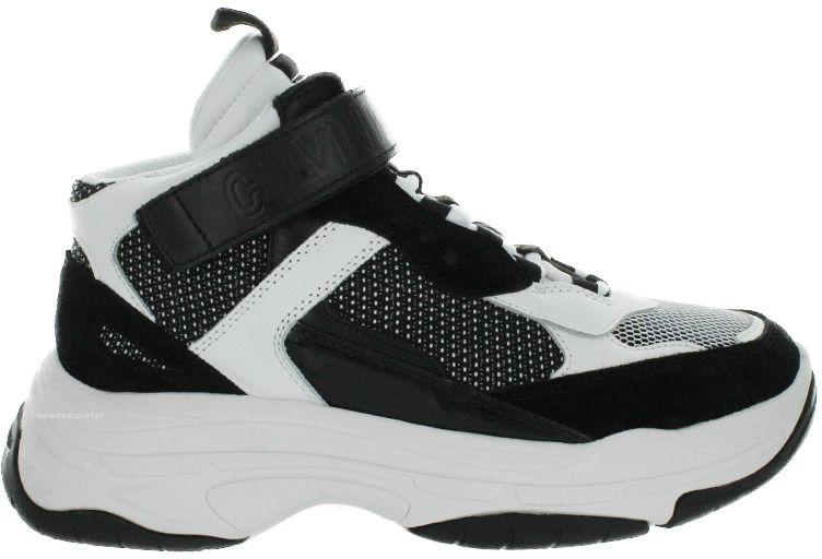Buty sportowe męskie Calvin Klein Jeans Mordikai biało-czarneB4S0134 WHITE/BLACK