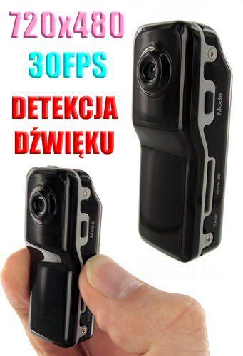 Szpiegowski Mikro-Rejestrator (wielkości kciuka) Nagrywaj. Obraz/Dźwięk + Detekcja Dźwięku + Akces..