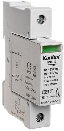 Ogranicznik przepięć C Typ 2 1P 20kA 1,3kV KSD-T2 275/40 1P 23130