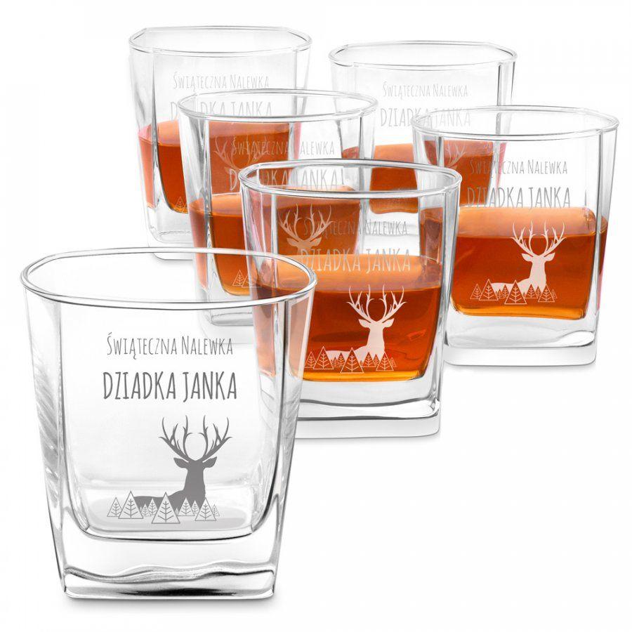 Szklanki grawerowane do whisky x6 komplet dla dziadka na święta